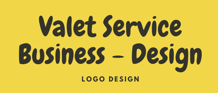 Valet business logo design