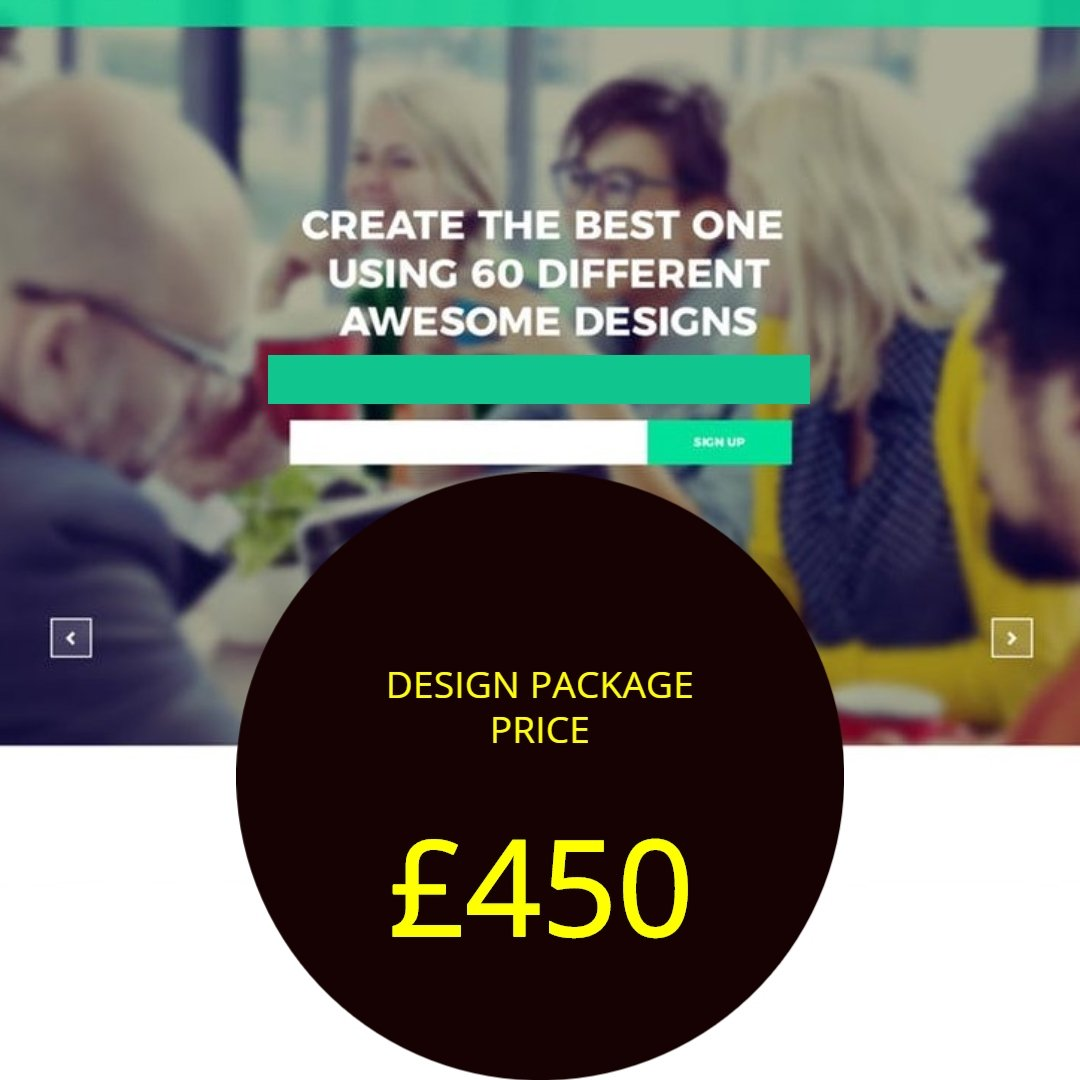 One page website design prices