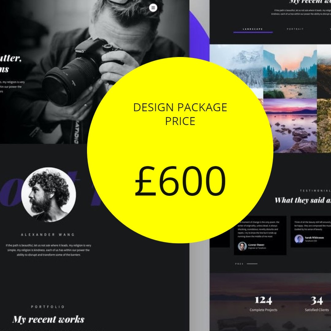 startup website design packages and pricing