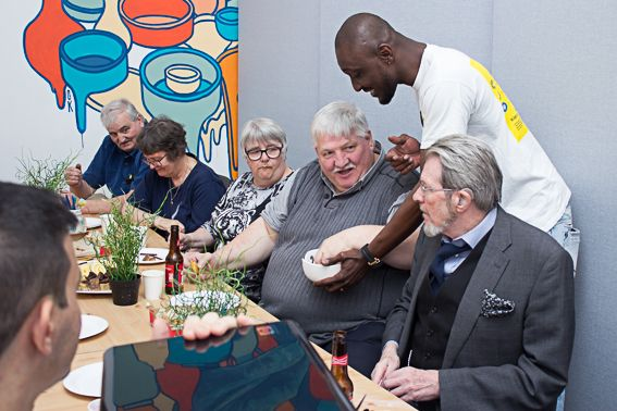Free social and ICT events for elderly community